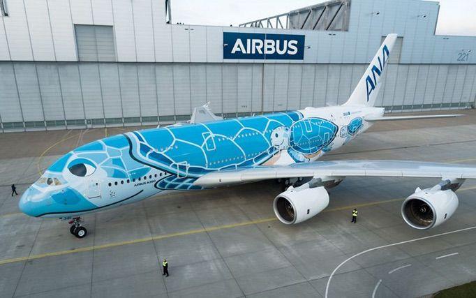 ANA A380 初号機のロールアウト